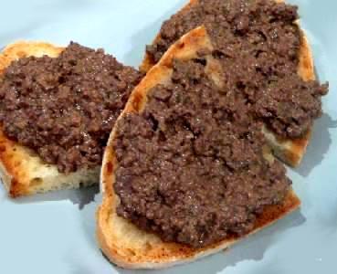 Crostino di milza osteria babazuf siena